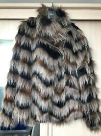 Fur Effect Ladies Short Jacket