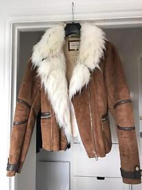 Faux Suede Tan Jacket from River Island