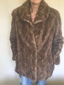 Ladies Vintage Real Fur Jacket