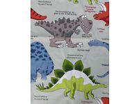 Dinosaur single duvet set and brand new fitted bottom sheet
