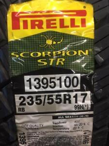 2 Brand New Pirelli Scorpion STR 235/55R17 BMW Approved  *** WallToWallTires.com ***