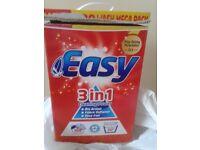 MEGA 100 WASH BOX OF 'EASY' WASHING POWDER, ALMOST FULL.