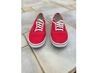 Red vans. Size 5. Excellent condition and hardly worn. £15
