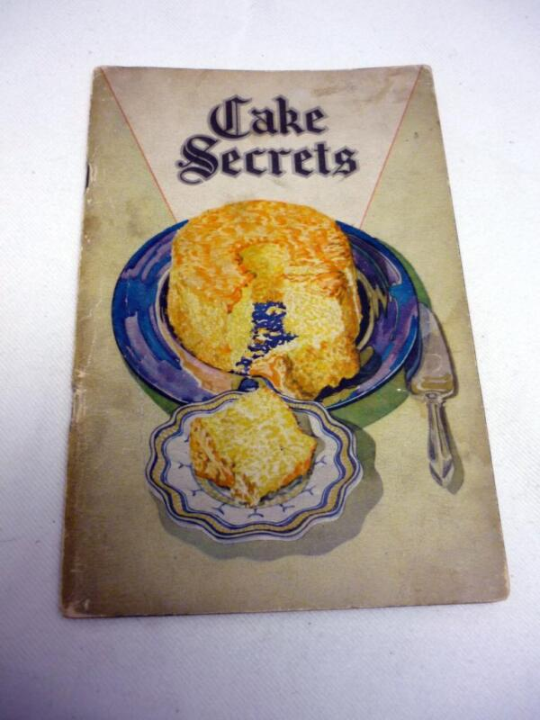 VTG SWANS DOWNS KITCHEN CAKE SECRETS BOOK 1928 FRANCES LEE BARTON