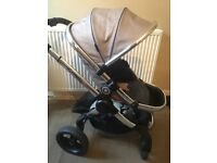 I candy peach 3 azure. With carry cot seat unit and both raincovers