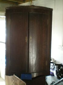 Antique oak corner cupboard, cabinet, possibly Georgian, for collection from Paignton