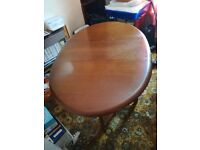 Vintage Solid Wood Extending Dining table and chairs