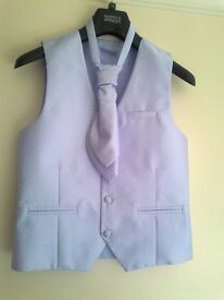 WAISTCOATS & MATCHING CRAVATS - BOYS SIZES - 4 AVAILABLE - PERFECT CONDITION, WORN ONCE ONLY