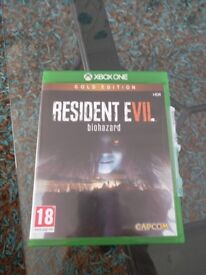 Resident Evil 7 Gold edition for Xbox one.