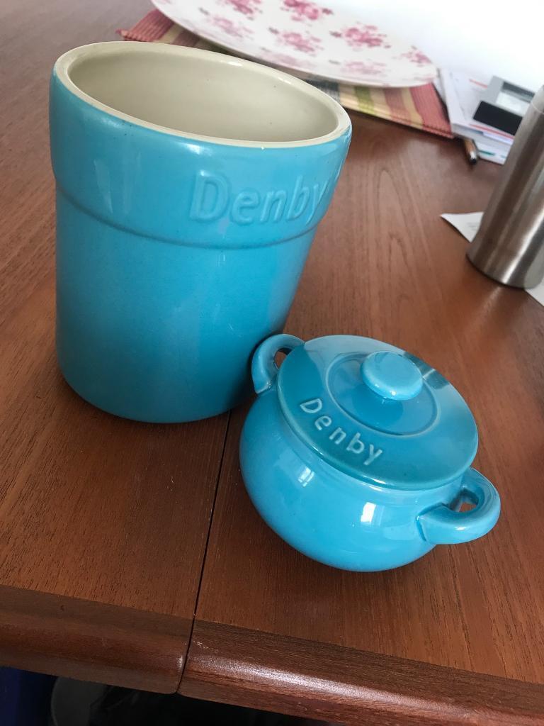 Denny blue utensil holder and mini casserole | in Brighton, East ...