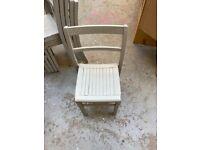 6 Beautiful vintage school chairs.
