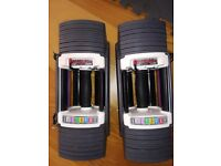 Powerblock Sport 9.0 Adjustable Dumbbells Pair Stage 1&2 (2.25-41kg) (not bowflex, olympic, weights)