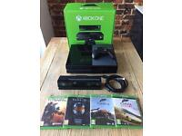 Microsoft Xbox One with Kinect 500GB Black Console + Games