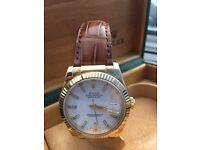 Rolex perpetual date adjust watch