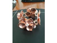 Rose Gold Coloured Stretch Bracelet (in pouch)