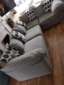 Josie L-shaped, grey sofa