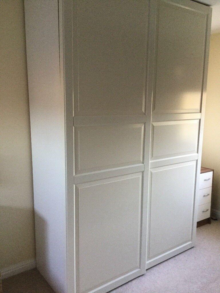 Ikea Wardrobe White With Double Sliding Doors In Livingston West