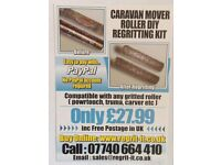 Caravan Mover Roller DIY Regritting Kit,Save £sss On New Rollers,Easy To Do,£27.99 Free P&P in UK