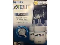 Phillips Avent Classic 3 feeding bottles, almost new condition