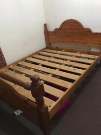 5ft King Size Bed with foam mattress LE5 3TN