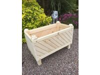 Hand crafted decorative wooden planter