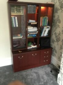cabinet and single bed with 2 single mettresses