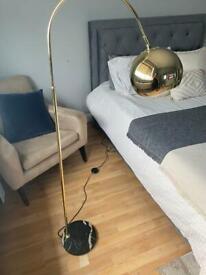Gold & Black Marble base Floor lamp