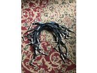 19 HQ patch cables and 3 midi leads