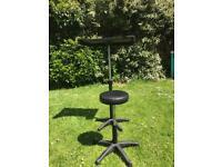 Calumet posing table and stool set.