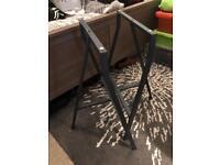 Set of grey table legs