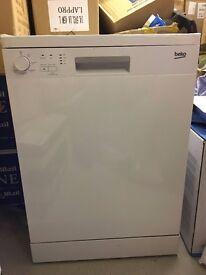 Bran New BEKO Full-size Dishwasher Silver 5 Programs A+ Energy Rating 49 Display Model