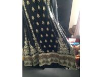 indian dress black and gold
