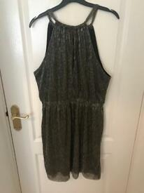 H&M Women's Gold/Silver metallic dress size 16 with tags