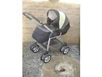 Silver Cross Freeway 3-in-1 Travel System - Pram, Pushchair & Carrycot - Bargain
