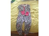 Girls 8yr Next Graffiti onesie, good condition from pet and smoke free home