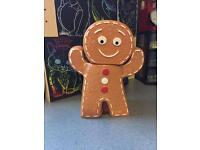 Ginger bread man biscuit barrel (ceramic) £4