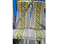 3 x Single and 3 x Double Mini bus seats with 3 harness seat belts