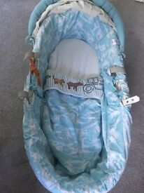 Joules on the farm white Moses basket