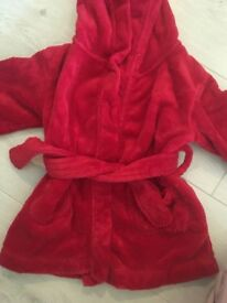 Red fluffy dressing down 12-18m- little white company