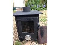 Log Burner, Sheffield made Boatman, fully reconditioned