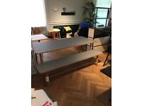 Reduced HAY FRAME BENCH AND TABLE