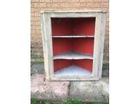 Victorian pine corner cupboard