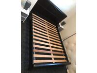 Leather king size bed frame £75-we can supply a new mattress or a second hand mattress