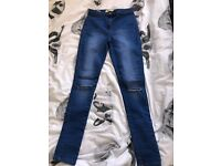 Blue jeans high wasited size 12 brand new without tags
