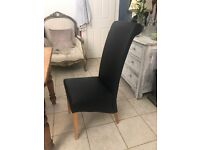 Black and Beechwood Dining Chairs- Five for £40