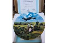 Royal Doulton plate 'Spitfire Coming Home' NEW UN MARKED