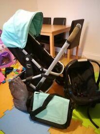 Mothercare pram+car seat