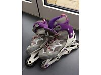 Girls roller blades size 4 /5 junior