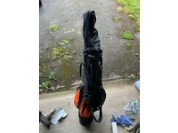 Junior golf bag and 6 clubs