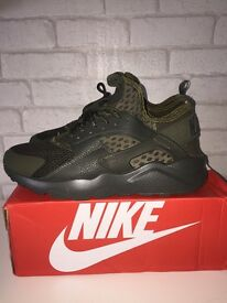 Nike Air Huarache Run Ultra Military Green / Khaki SIZE 9 Brand New DEADSTOCK